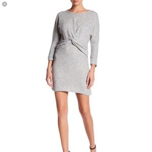 NWT Everly twist gray shift dress long sleeve